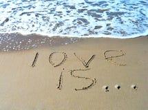 L'amour de mot est Photos libres de droits
