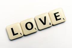 L'amour de mot sur des blocs de lettre Photo libre de droits
