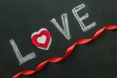 L'amour de mot sur le tableau Photos libres de droits