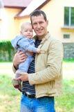 L'amour de père. Photo stock