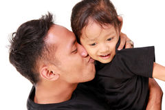 L'amour de père image stock