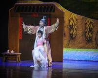 L'amour de père aiment une lune de ballet de montagne-Hui au-dessus de Helan Image libre de droits
