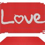 L'amour de Word écrivent par des tuiles sur le fond blanc Images libres de droits