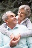 L'amour du ½ s de ¿ de seniorï Images libres de droits