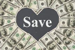 L'amour du message d'argent d'économie Image stock