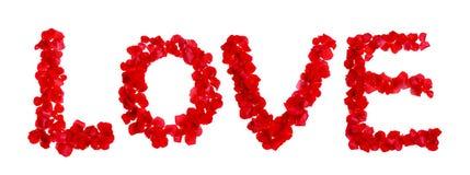 L'amour effectué à partir a monté Image stock