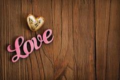 L'amour en bois de mot Photo libre de droits
