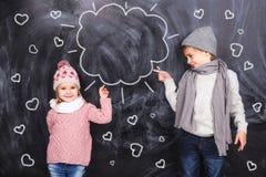 L'amour entre un garçon et une fille Images stock