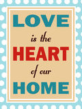 L'amour est coeur de notre maison Images libres de droits