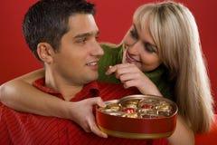 L'amour est comme le chocolat Images libres de droits