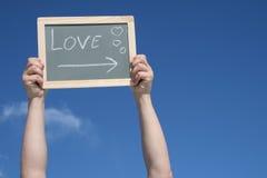 L'amour est dans le ciel Photo libre de droits