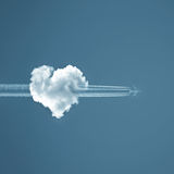 L'amour est dans le ciel images stock
