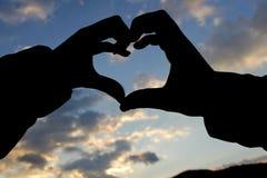 L'amour est dans le ciel Image libre de droits