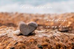 L'amour est dans le ciel Image stock