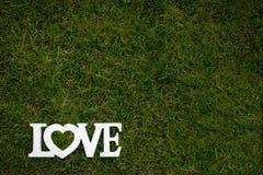 L'amour est dans le ciel et sur le vert Images libres de droits
