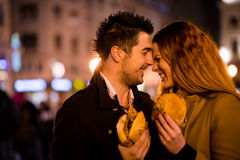 L'amour est flourishing quand vous n'avez pas faim Images libres de droits