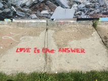 L'amour est la réponse Photos stock