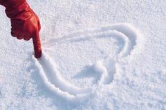 L'amour est plus chaud que l'hiver Images stock