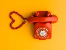 L'amour est un appel téléphonique loin Photos libres de droits