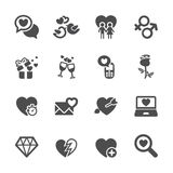 L'amour et l'icône de valentine ont placé 5, le vecteur eps10 Photo libre de droits