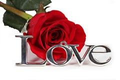 L'amour et le rouge ont monté Photos libres de droits
