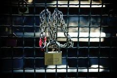 L'amour ferme à clef le plan rapproché Images libres de droits