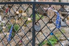 L'amour ferme à clef Tbilisi Georgia Eastern Europe Image libre de droits