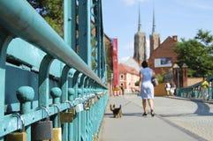 L'amour ferme à clef - Wroclaw - la Pologne Photographie stock