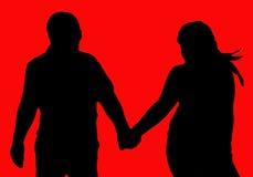 L'amour marche pour toujours Image libre de droits