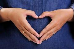 L'amour maternel éternel remet le symbole Image stock
