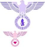 L'amour militaire Badges la série Photos stock