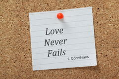 L'amour n'échoue jamais Images libres de droits