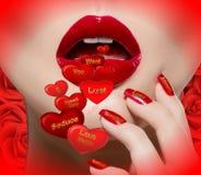 L'amour parle. Image libre de droits