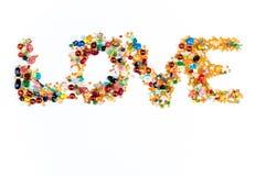 L'amour perle le signe Photo libre de droits