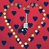 L'amour peut être trouvé même dans des armes qui sont censées pour faire l'opposé Image libre de droits