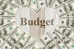 L'amour pour avoir un message de budget Photo stock