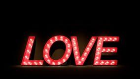 L'amour pour le jour du ` s de Valentine/3D rendent l'image Image stock