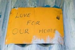 L'amour pour notre signe à la maison est montré au programme de rééducation de Pepo La Tumaini Jangwani, de la Communauté de HIV/ Image libre de droits