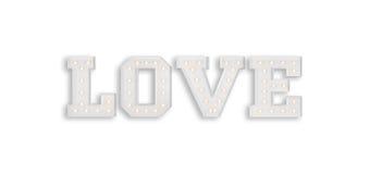 L'amour se connectent le fond blanc Images libres de droits