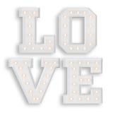 L'amour se connectent le fond blanc Image libre de droits