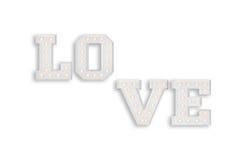 L'amour se connectent le fond blanc Photographie stock