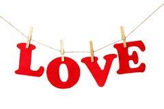L'amour se connectent le fond blanc - d'isolement Photos libres de droits
