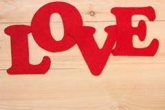 L'amour se connectent le fond en bois Photos libres de droits