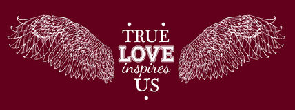 L'amour vrai nous inspire illustration stock