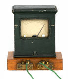 L'amperometro antico Immagine Stock