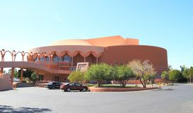 F. Lloyd Wright : Gammage, rampe et entrée principale Photo stock