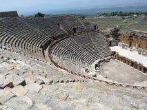 L'amphithéâtre de Hierapolis Images libres de droits