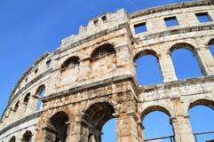 L'amphithéâtre romain dans le Pula Images stock
