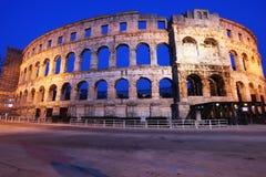 L'amphithéâtre romain des Pula Image libre de droits