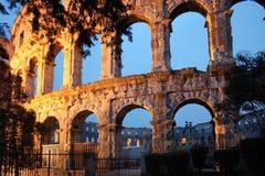 L'amphithéâtre romain des Pula, Photographie stock